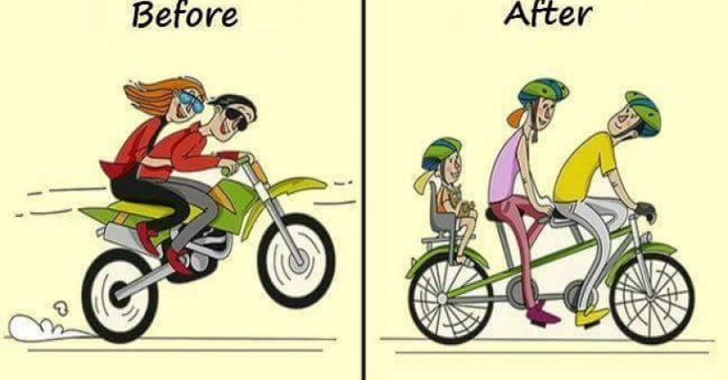 Преди и след в живота на семейния мъж