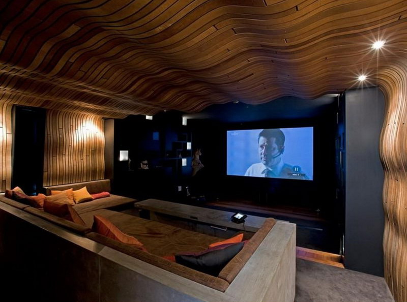 Home-Theater-Design-Ideas-With-Wall-of-Wood